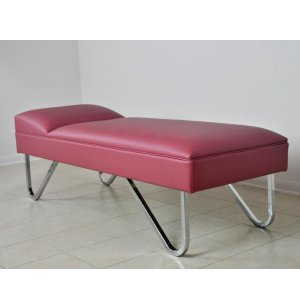WMC Recovery Couch with Fixed Headrest, Chrome Legs