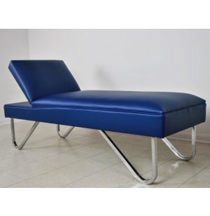 WMC Recovery Couch with Adjustable Headrest, Chrome Legs