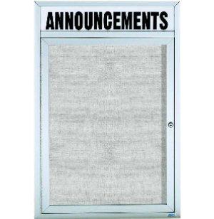 Weatherproof  Enclosed Vinyl Board 1 Door w/Header