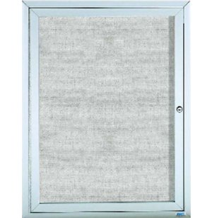 Weatherproof  Enclosed Illuminated Vinyl Board 1 Door