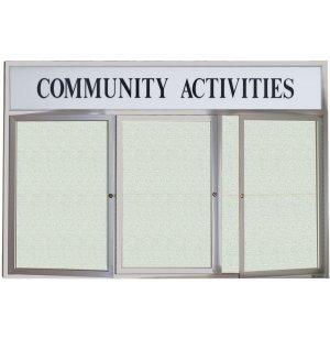 Weatherproof  Enclosed Vinyl Board 3 Door w/Header