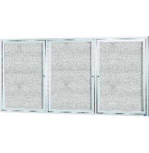 Weatherproof Illuminated Vinyl Board 3-Door w/Header