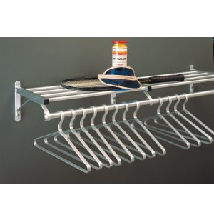 Aluminum Wall Mounted Coat Rack with Hat Shelf