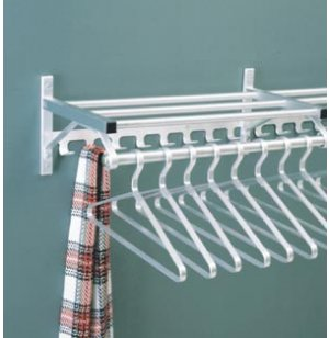 Wall Mounted Coat Rack with Hat Shelf and Hooks