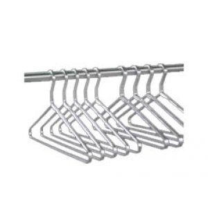 Pack of 6 Satin Aluminum Hangers