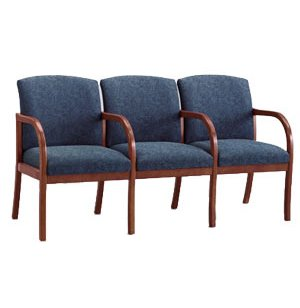 Weston 3-Seat Sofa with Center Arms - Grd3 Fabric
