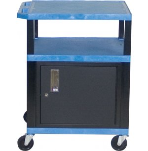 Colored Shelf Tuffy Cart with Cabinet