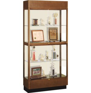 Hard Wood 2 Tier Trophy Cabinet