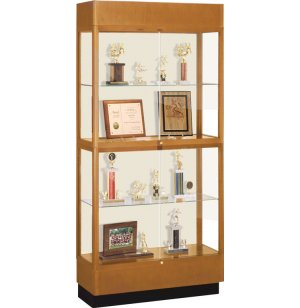 Heritage Oak 2 Tier Trophy Cabinet