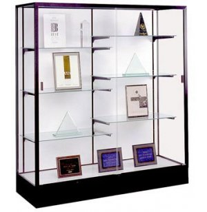 Colossus Floor Display Case w/ White Laminate