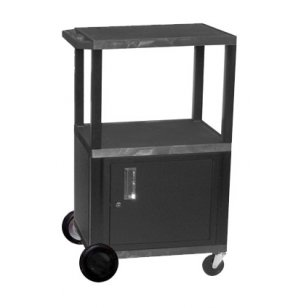 Tuffy Cart with Cabinet with Electric and 8in Wheels