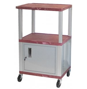 Colored Shelf Tuffy Cart with Cabinet and Electric