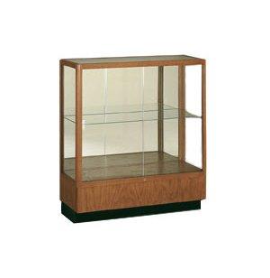 Oak Trophy Case - Mirror  Back