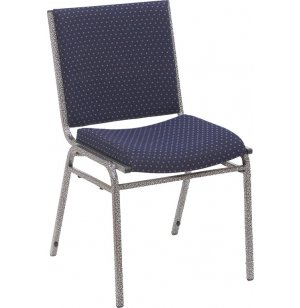 Heavy-Duty Stack Chair w/Silvervein Frame