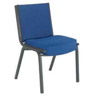 Heavy-Duty Stack Chair with Black Frame