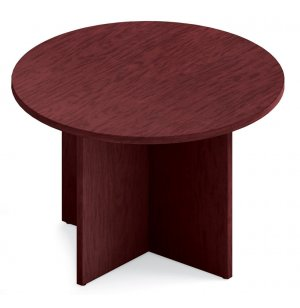 Round Top Table with Self Edge & X-Base