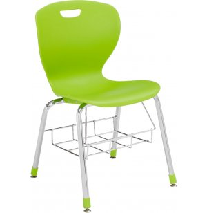 Zed School Chair with Bookbasket
