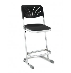 Heavy-Duty Z Lab Stool with Backrest