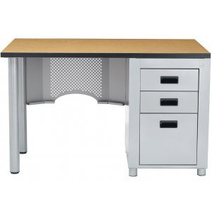 Nate Junior Single-Pedestal Teacher's Desk