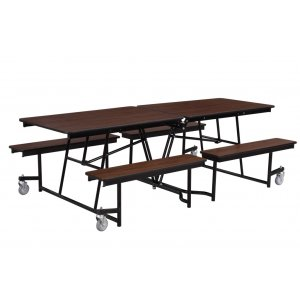 Fixed-Bench Cafeteria Table MDF Core Protect Edge