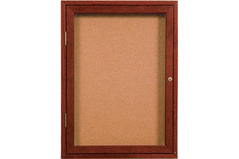 Wood Framed Enclosed Cork Boards by United Visual