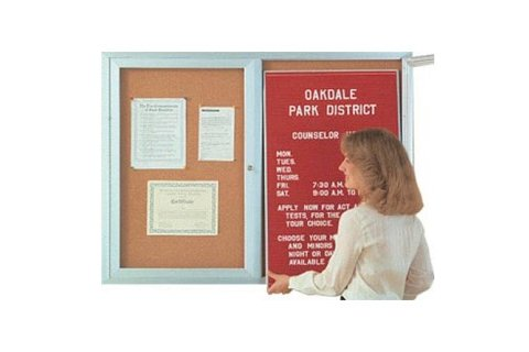 Aluminum Indoor Directories with Two Doors
