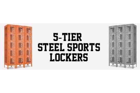Penco Invincible II 5-Tier Steel Sports Lockers