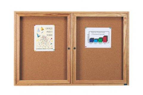Wood Framed Enclosed Cork Boards