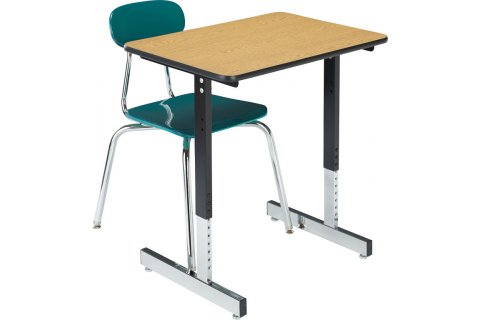 1500 Series T-Leg Classroom Desks by Academia