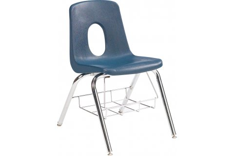 120 Series Poly Chair with Book Basket