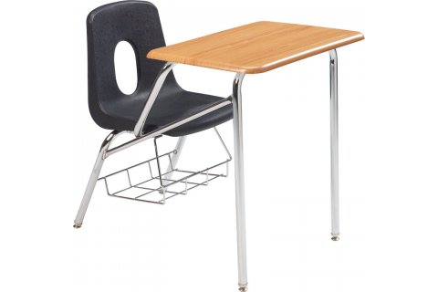 Poly Combo Chair Desks- WoodStone Top