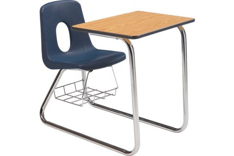 Poly Student Combo Sled Base Chair Desks