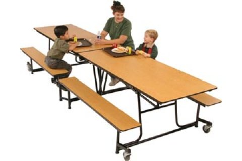 Fold and Roll Cafeteria Tables