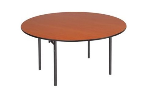 Round Plywood Core Folding Tables Double T Legs