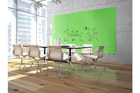 Aria Floating Glass Whiteboards by Ghent