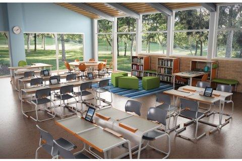 A&D School Desks by Paragon