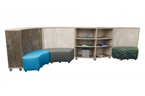 Academia Curved School Bookcases