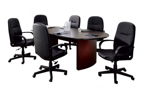 Curved Flush Base Conference Tables with Laminate Edge