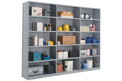 Clipper Industrial Metal Shelving with Closed Shelves