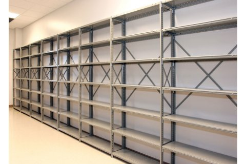 Clipper Industrial Metal Shelving with Open Shelves