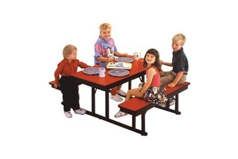 Preschool Cafeteria Table Bench Units