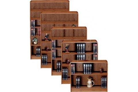 Radius Edge Veneer Bookcases