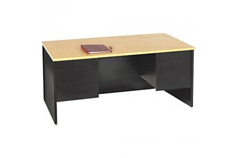 Panel End Double Pedestal Teachers Desk