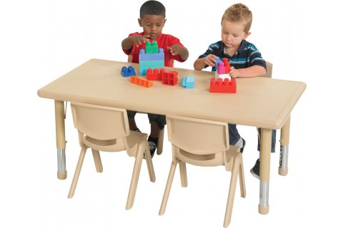 ecr4kids resin preschool tables and chairs, classroom tables