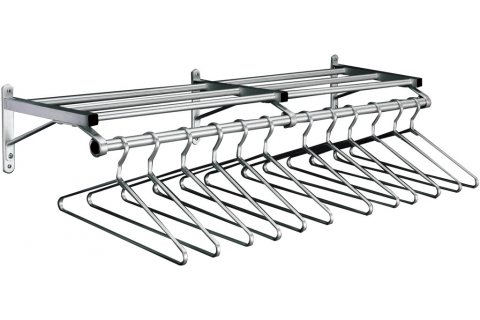 ValueLine WallMounted Coat Racks With Shelf Hangers By Glaro New Crate And Barrel Wall Mounted Coat Rack