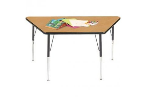 Trapezoidal Adjustable Height Activity Tables