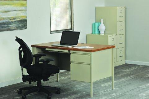 Pedestal Teacher Desks by Hirsh