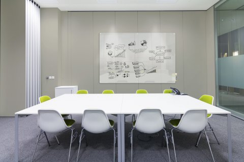Harmony Glass Whiteboard by Ghent