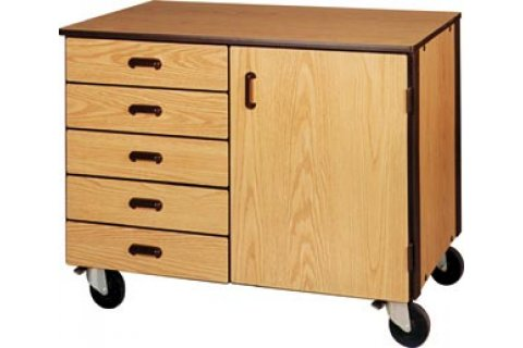Mobile Low Storage Cabinets by Ironwood