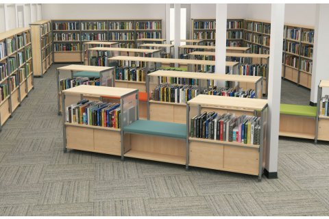 Information Commons Library Shelving by Paragon